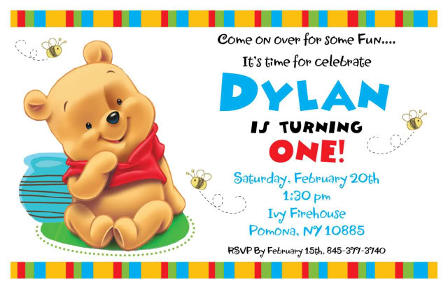 Free 1st Birthday Invitation Templates DolanPedia Invitations