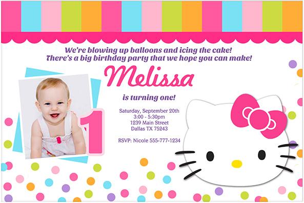 Printable Hello Kitty Birthday Invitations DolanPedia