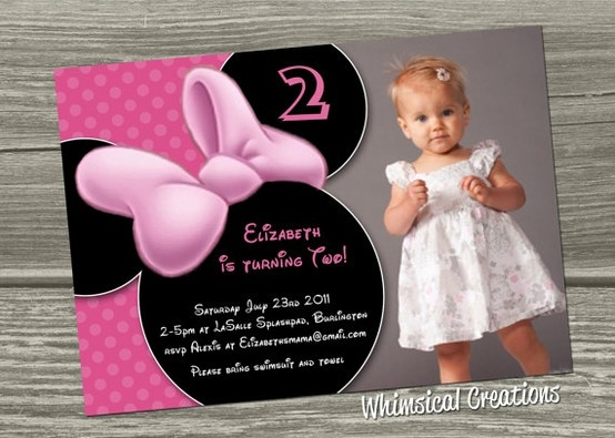Minnie Mouse 2nd Birthday Invitations DolanPedia Invitations