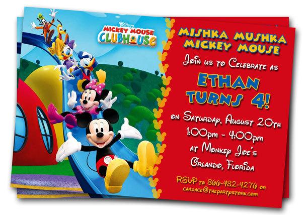Mickey Mouse Birthday Invitation Ideas DolanPedia Invitations - mickey mouse birthday invitation template