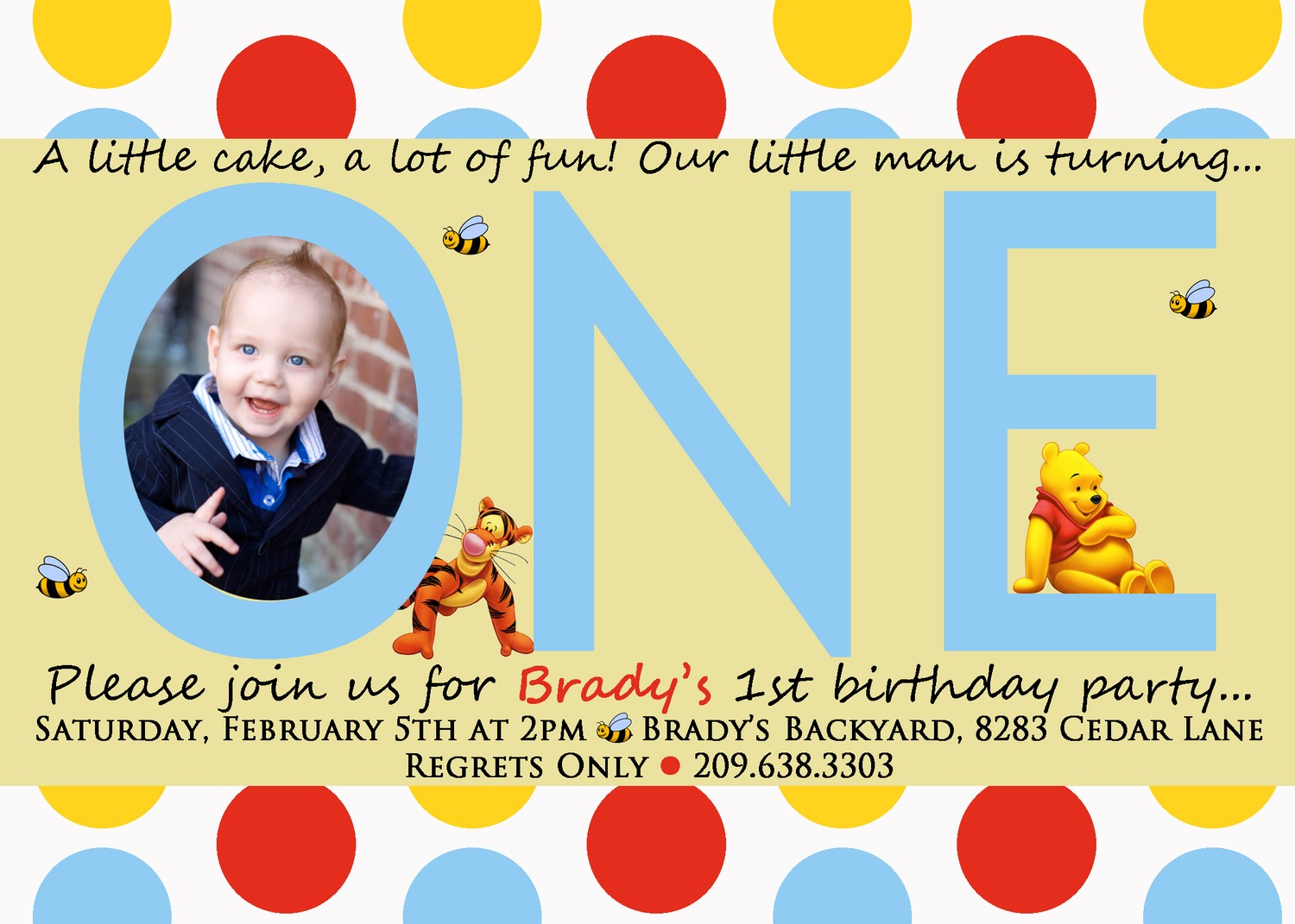 Fullsize Of First Birthday Invitations