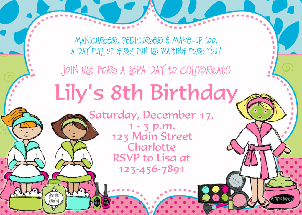 Birthday Party Invitations Templates Free Download DolanPedia