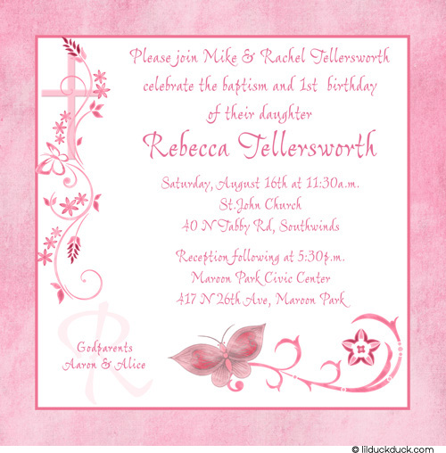 Wallpaper Border For Teenage Girl First Birthday And Baptism Invitations Dolanpedia