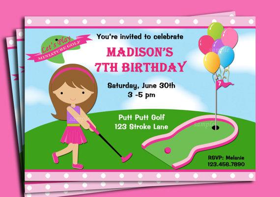 Mini Golf Birthday Party Invitations Dolanpedia