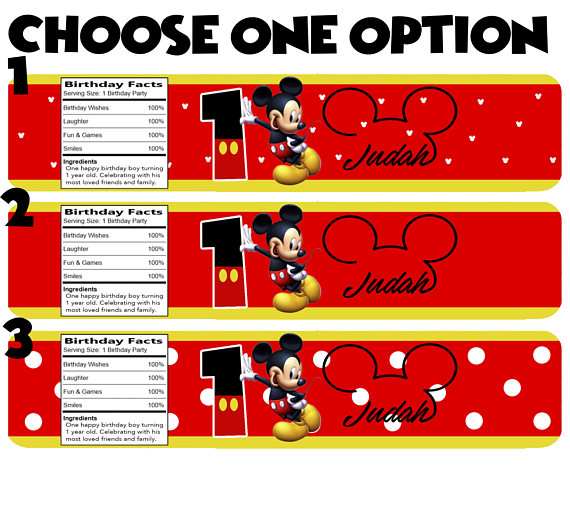 Free Printable Mickey Mouse Clubhouse Bottle Labels DolanPedia