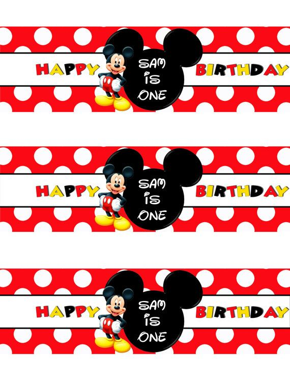 Free Printable Mickey Mouse Bottle Labels DolanPedia Invitations - free printable mickey mouse