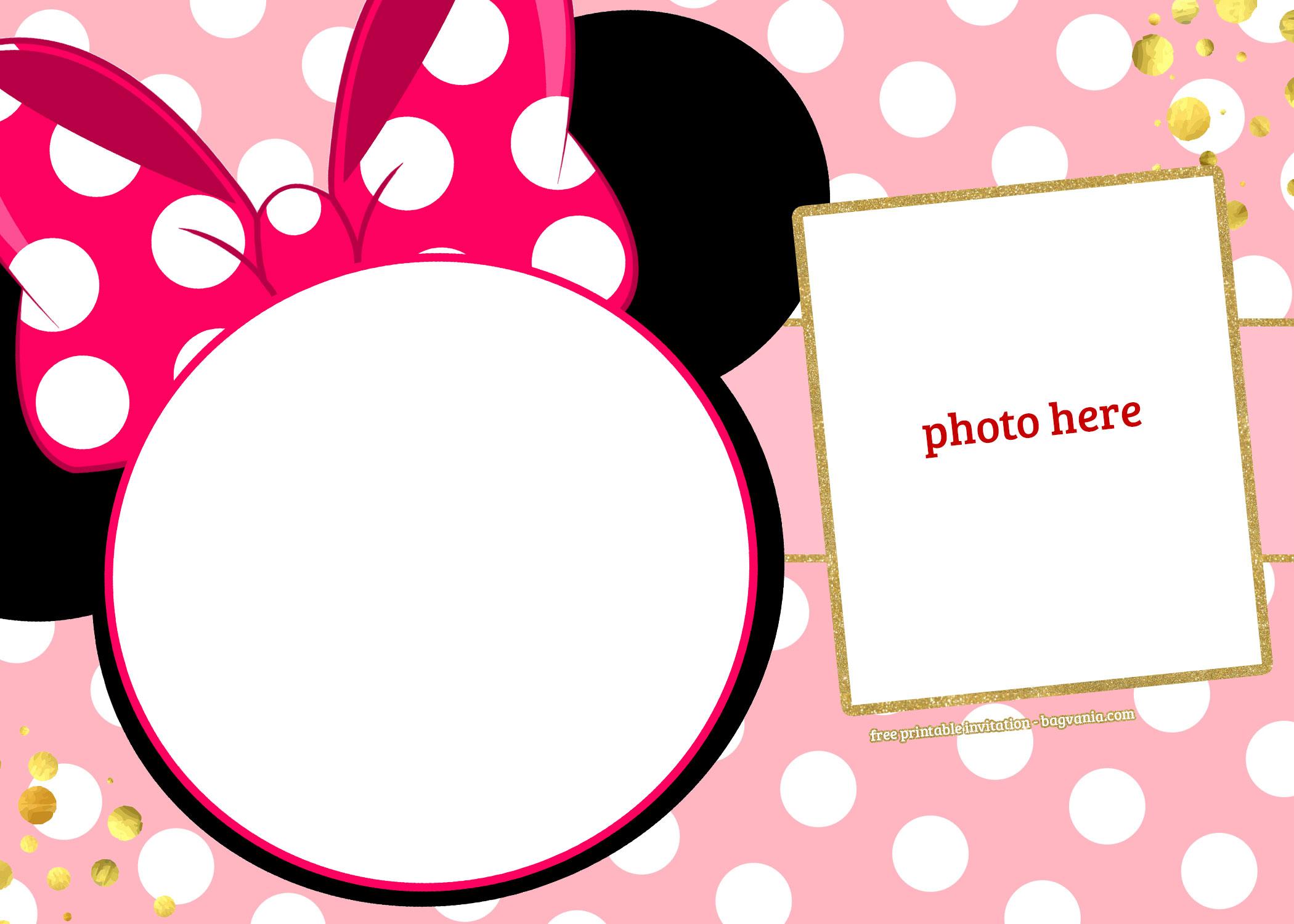minnie mouse invitation template free
