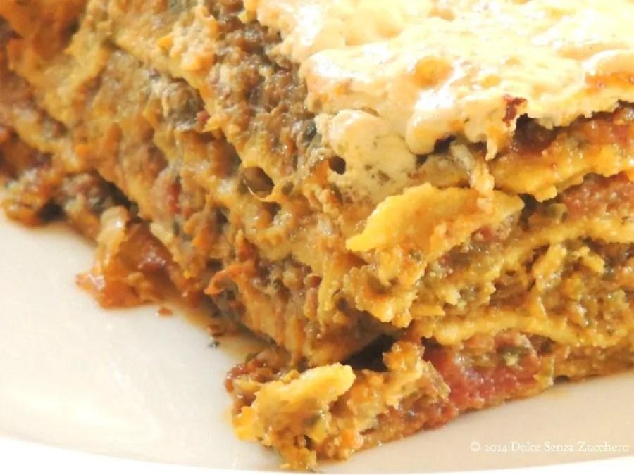 Lasagne Senza Glutine e Senza Farina (Con Indice Glicemico Basso)