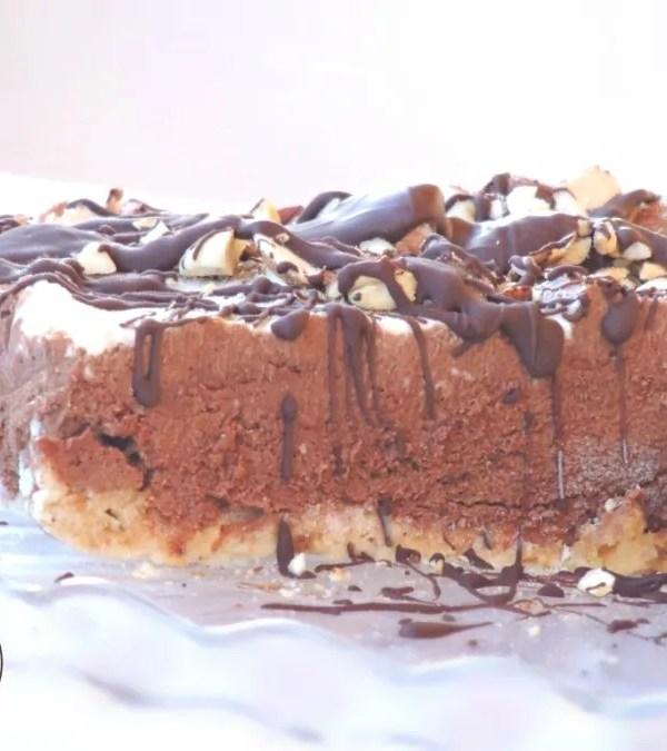 Torta Semifreddo al Cioccolato e Nocciole (Senza Glutine)