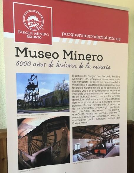 Entrando nel Museo Minero del Parque omonimo