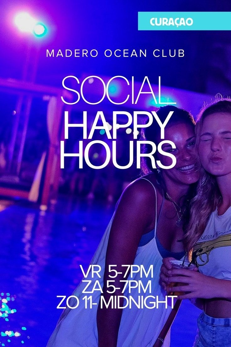 Happy hour op Mambo Beach bij Madero Ocean Club