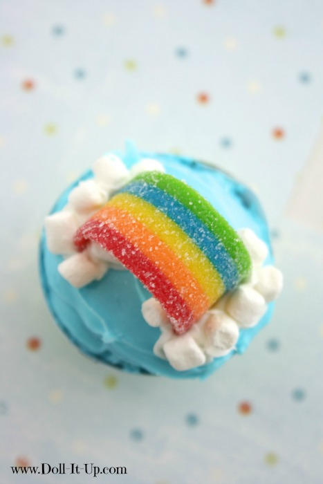 Rainbows, Clouds, Creative Inspiration and a Printable Cupcake