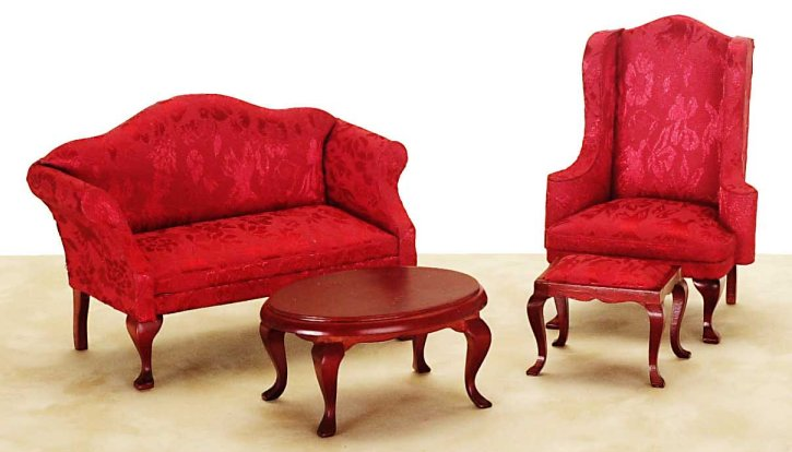 Victorian Living Room Set From Fingertip Fantasies Dollhouse - victorian living room furniture