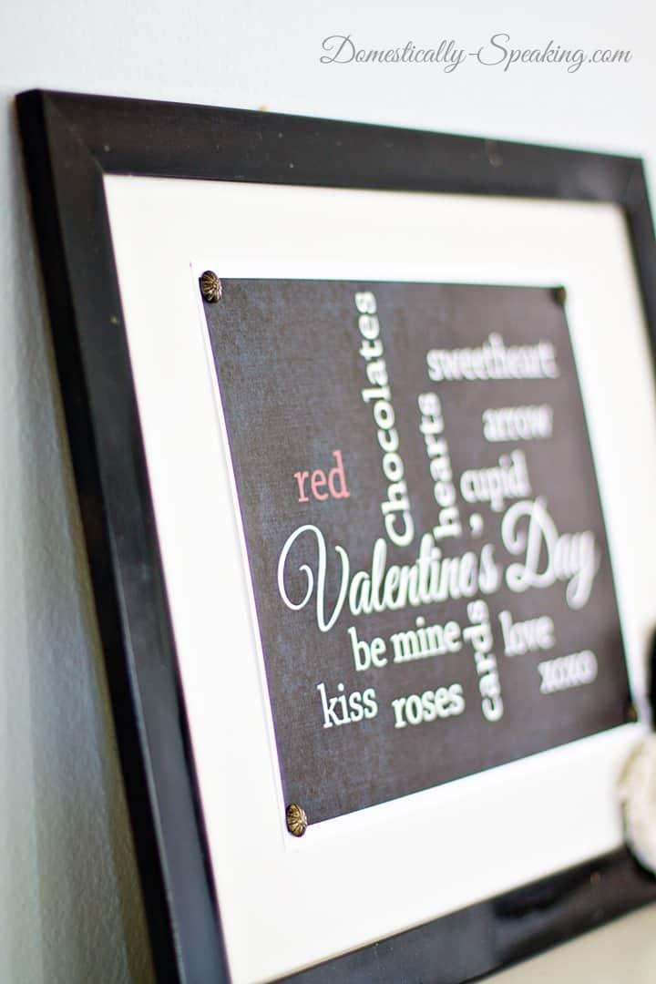Chalkboard Valentine Subway Art Printable - Domestically Speaking