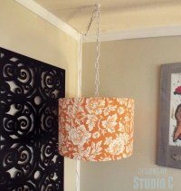DIY Hanging Light & Lamp Shade - Domestically Speaking