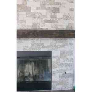 Sightly Save Diy Faux Stone Fireplace Makeover Domestically Speaking Faux Stone Fireplace Mantels Faux Stone Fireplace Cost