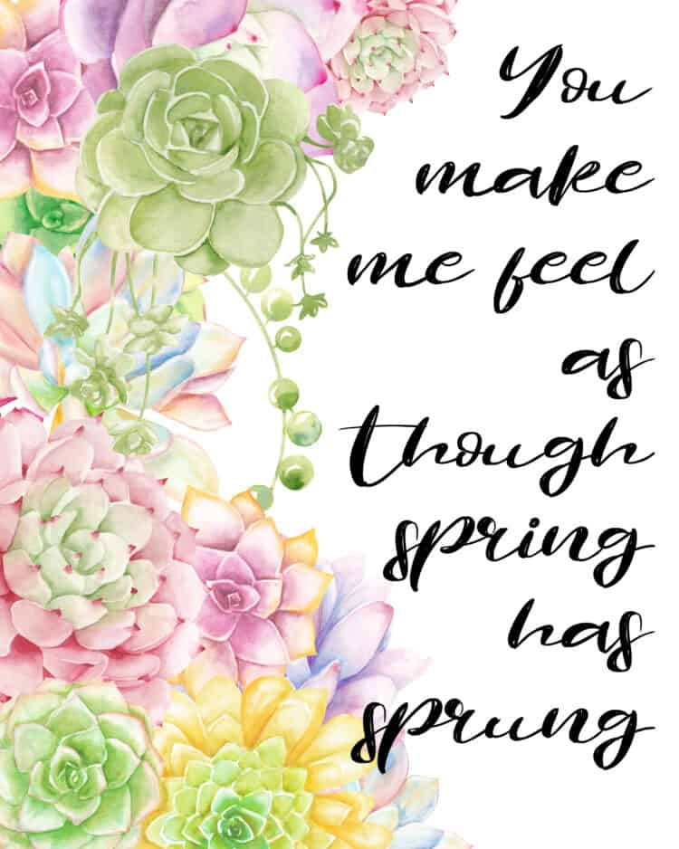 You Make Me Feel Like Spring Has Sprung - Domestically Speaking