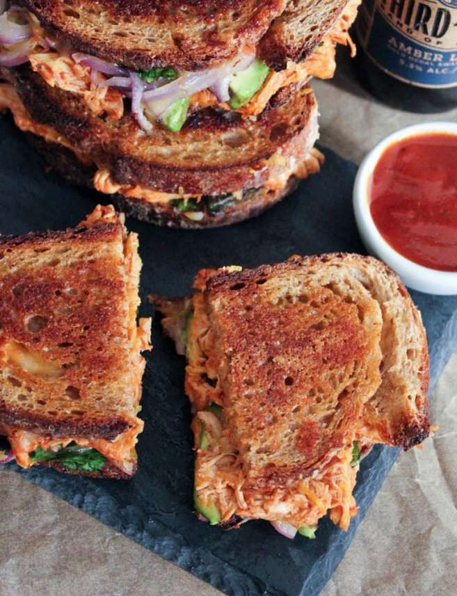 Barbecue-Chicken-Grilled-Cheese-with-Avocado-Cilantro-and-Red-Onion-4
