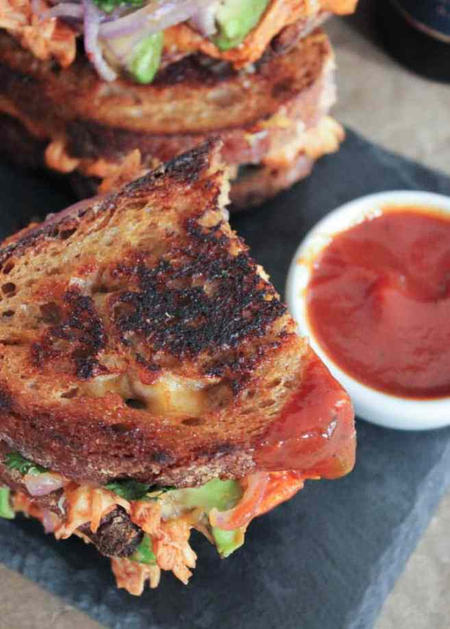 Barbecue-Chicken-Grilled-Cheese-with-Avocado-Cilantro-and-Red-Onion-6