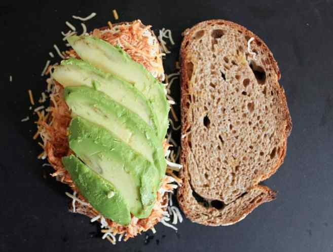 Barbecue-Chicken-Grilled-Cheese-with-Avocado-Cilantro-and-Red-Onion-step-6