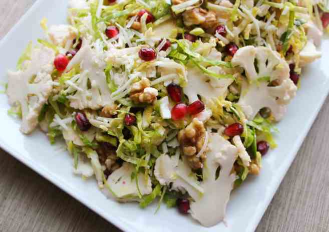 Shaved-Brussels-Sprout-and-Cauliflower-Salad-with-Pomegranate-Walnuts-Pecorino