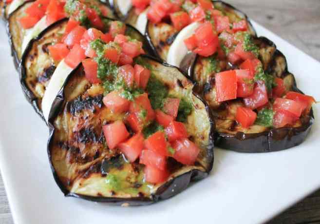 Best-Summer-Grilling-Recipes-Grilled-Eggplant-with-Fresh-Mozzarella-Tomatoes-and-Basil-Vinaigrette