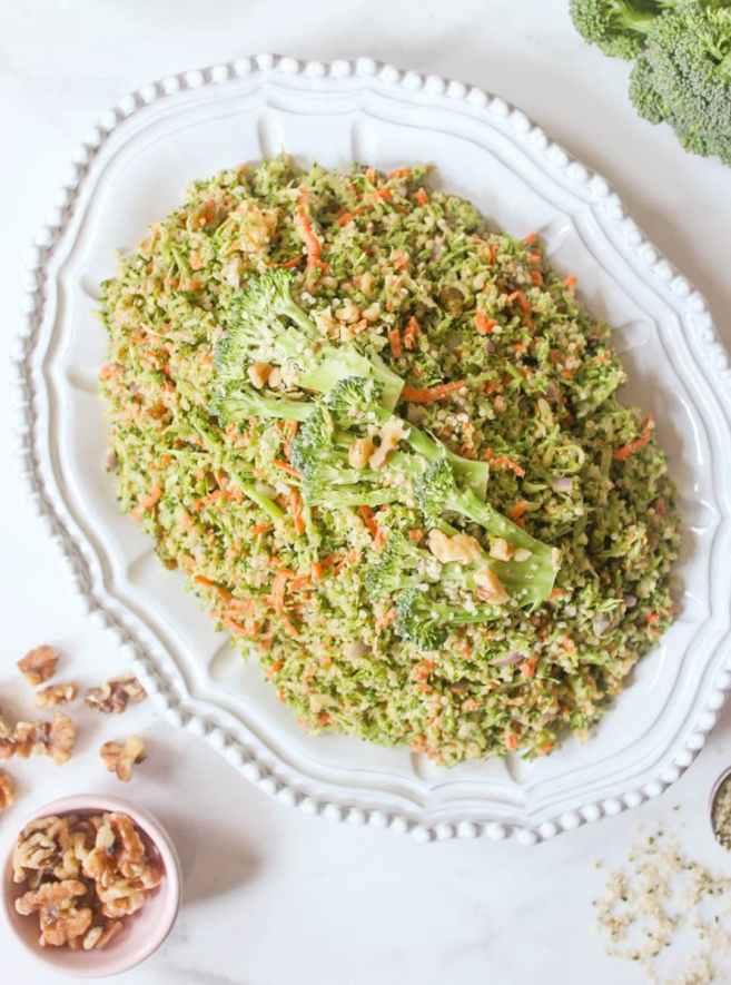 Quinoa Broccoli Slaw- Domesticate ME!