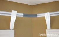 DIY Bay Window Curtain Rod & Back Tab Curtains - Domestic ...