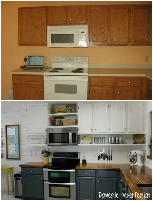 Farmhouse Kitchen on a Budget - The Reveal - Domestic Imperfection