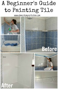 How to Refinish Outdated Tile (yes, I painted my shower ...
