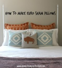 euro pillow shams diy  Roselawnlutheran