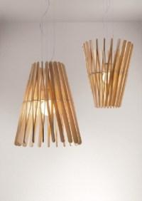 Lampa z patyczkw po lodach - Dom i Biuro