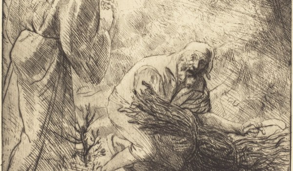 Alphonse Legros, Death and the Woodcutter, 2nd plate (La mort et le bucheron), French, 1837 - 1911, , etching? and drypoint, Rosenwald Collection