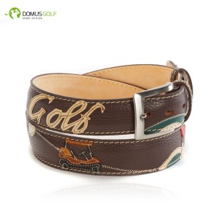 "CINTURA MODELLO ""BROWN VINTAGE GOLF"""