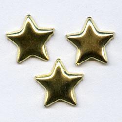 "Gold -- 1/2"" Medium Star -- Paper Fasteners -- 50 Pack"