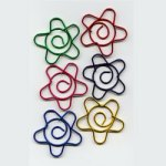 "Metallic -- 1 1/8"" Flower Paper Clips -- 15 Pack"
