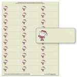 Merry Christmas Santa Address Labels -- 5 Sheets -- 150 Labels