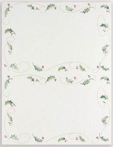 Holly Bunch -- 50 Invitations
