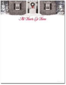 """Wreath with Red Ribbon -- Holiday Stationery -- 8 1/2"""" x 11"""" -- 100 Sheets"""