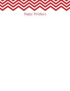 Chevron Holiday Letterhead Stationery