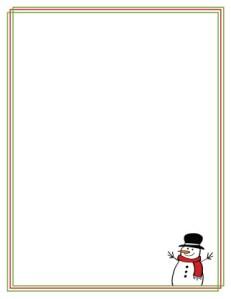 Snowman Letterhead stationery