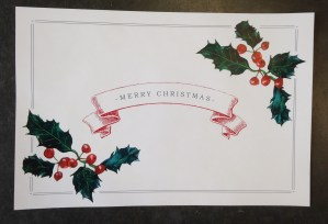 Merry Christmas Paper Placemat