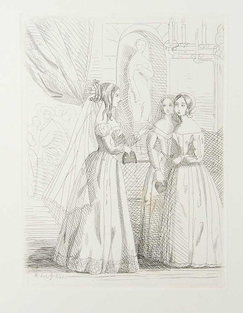 Presentation album of 80 etchings by Queen Victoria  Prince Albert