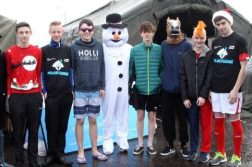 Students from Loreto Community School with teacher Mr Noel Scott at the Polar Plunge.