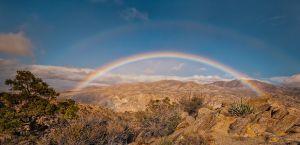 Rainbow Over Deep Canyon, Santa Rosa Mountains, California