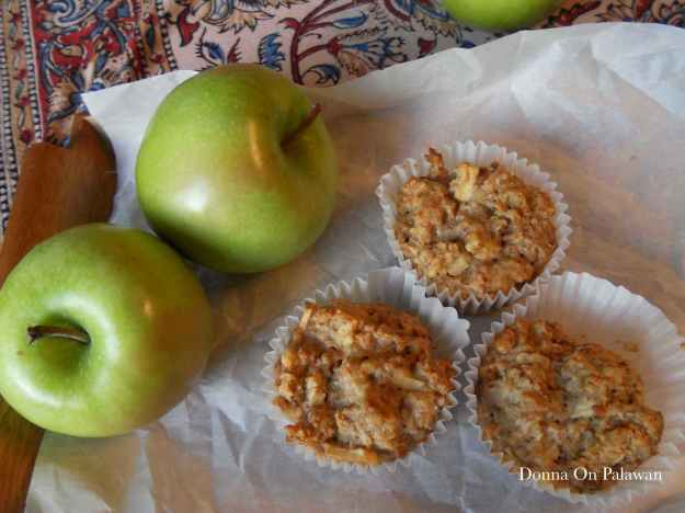 Apple Walnut Oat Muffins