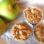 Healthy Apple Walnut Oat Muffins