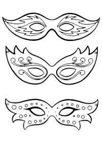 Maschere di carnevale da colorare | Bambini | Donnee.it