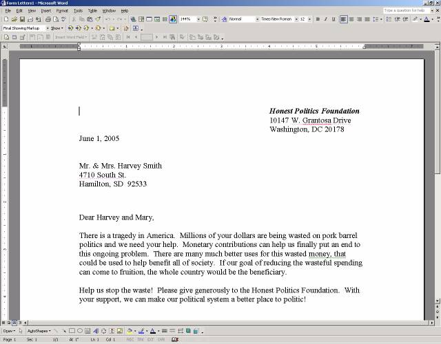 New Microsoft Word Integration - word letter