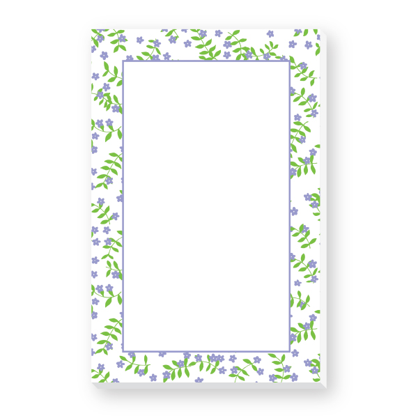 Border Notepad (Purple Flowers) Donovan Designs